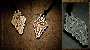 Skyrim Pendant - Stainless Steel by soupcan13