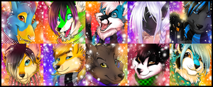 Winter Icon Comm - Batch 1 by Majime
