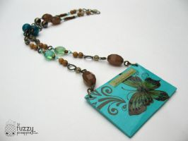 Touching Butterflies Necklace by TheFuzzyPineapple