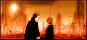 Anakin and Padme by spacecraft