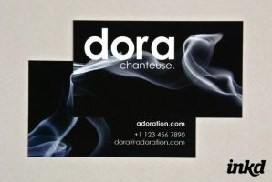 Black Business Card with Smoke by inkddesign
