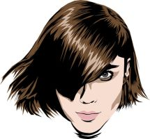 Vector of woman short hair by The-Mattness