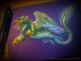 Gryphon Power! by KhaliaArt