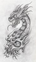 dragon with skull 2 by markfellows