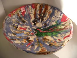 Glass and Glazed dish by ArtCoursework