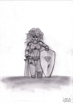 Hannah - The lonely warrioress by Miagi-chan