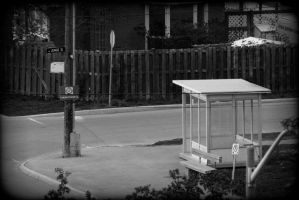 Lonely busstop by CapnNanaX3
