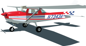 cessna 150 vector by mykmykmyk