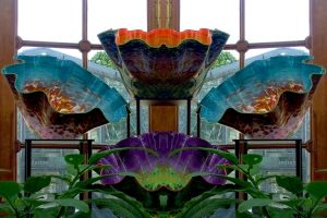 Kew Temperate House Chihuli Glass Reflection by aegiandyad