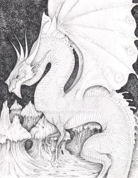 White Dragon of the Moon by verreaux