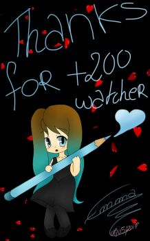 Thanks you so much for +200 Watcher !!! by AyanoThePanda