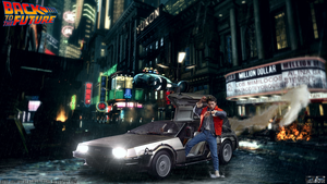 Hot Toys Back To The Future HD Wallpaper by D-CDesigns