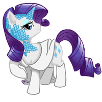 Commission: Rarity Frost by Pikkinon
