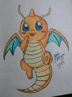 chibi dragonite v2 by Miku-chan9