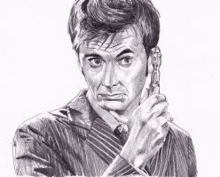 David Tennant as Doctor Who by Kate-Murray
