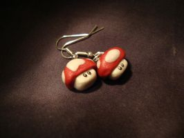 Red Mario Mushrooms by Menouthys