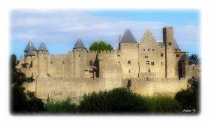 Carcassonne this afternoon july 15 2015 by Hubert11