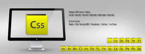 Adobe CS5 Icons Yellow by m-trax
