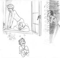 Gussie Prissie sketches by ancalinar
