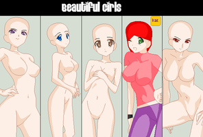 Beautiful Girl Collab .:Closed:. by Katie-Kimii