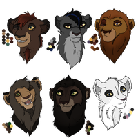Lion Adopts :Closed: by WolvesWoodGlen
