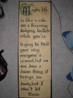 Calligraphy Wall Scroll by monster-assassin