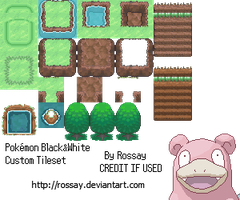 Pokemon Black + White Tileset by Rossay