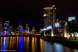 Melbourne At Night... by Al-Msafer