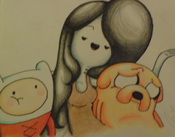 color pencil 2 marceline by music-missy