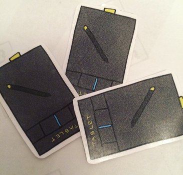 Handmade Wacom Tablet Stickers by anniscrafts