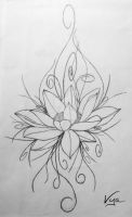 Flower tattoo design by Vyamester