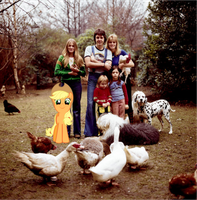 Applejack and the McCartney's by Bronyman1995