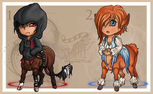 Chibi Centaurs [Auction: 1 Closed] by ResidualAdopts