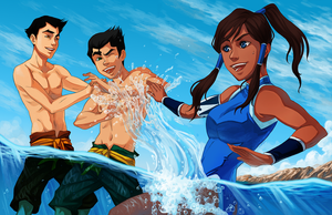 The Legend of Korra - A Break from Training by curry23