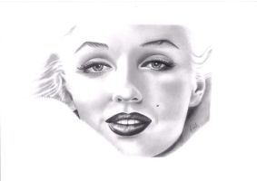 Marilyn Monroe by Fraggie-Muffin