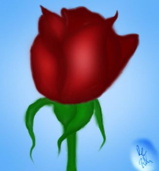 My first attempt at a digital painting... a rose by HoldMyUnicorn