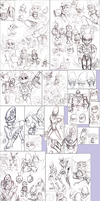 Ratchet and Clank Sketches: Oct - Nov 2014 by Strixic