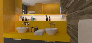Yellow Bathroom by simona723