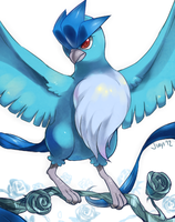 Blue Rose Articuno by Jiayi