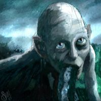 Golum Portrait by vivenaishide