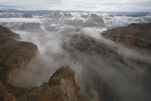Fog in the Canyon by SirChessBot