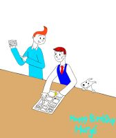 Herge and Tintin by TandP
