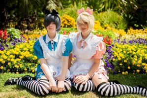 Alois and Ciel in wonderland by iidreamsss