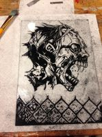 Zombie scratch art... by Threedayslong