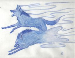 Ghost Wolves by northern-image