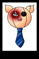 The Zombie Zoo Friends - Pig by LadyDarque