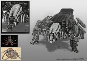 Coconut Crab Mech Concept by AquamarineO2