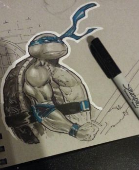tmnt leo last sketch 4 the year by Sajad126