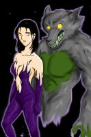 Devil Jun with Wolf by gwendy85