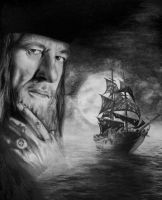 Barbossa, Geoffrey Rush by SuperSal001